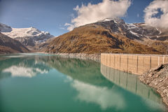 Mooserboden high altitude reservoir, near Kaprun - Zell am See, Austria Royalty Free Stock Photos