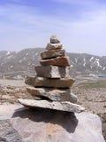 Moosige alte Felsen, moosige Felsmalerei der Nordseite Stockfotos