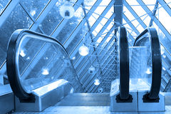 Mooving escalators and stairs Royalty Free Stock Image