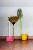 mop веника старый Стоковые Фотографии RF