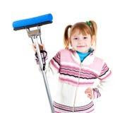 mop девушки Стоковое Изображение RF
