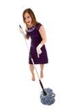 mop девушки Стоковое фото RF