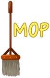 Mop royalty free illustration