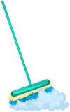 Mop brush. Illustration of isolated mop brush on white background Royalty Free Stock Image