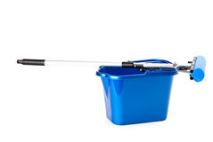Mop and bucket stock image