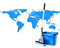 Mop and bucket stock images