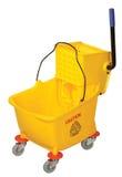 Mop Bucket. Yellow Mop Bucket isolated on white background Stock Photos