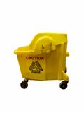Mop Bucket. Isolated on a white background Stock Image