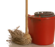 Mop and bucket Stock Photo