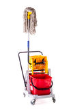 Mop bucket isolated Royalty Free Stock Photography