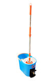 Mop and bucket. Isolated on a white stock images