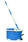 Mop and bucket. Isolated on white royalty free stock photography