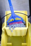 Mop and bucket Royalty Free Stock Photography