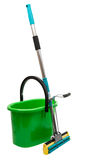 Mop with a bucket Stock Photo