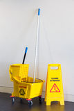 Mop bucket and wringer stock photos