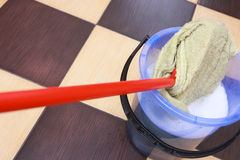 Mop with a cloth. Royalty Free Stock Photography