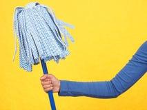 Mop di pulitura Fotografie Stock Libere da Diritti