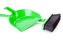Mop and dust pan Royalty Free Stock Photography