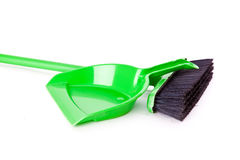 Mop and dust pan Royalty Free Stock Images