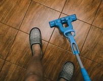 Mop On the Floor Royalty Free Stock Photos