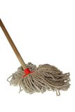 Mop Isolated on White Background Stock Photos
