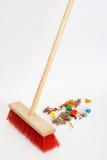 Mop mixed trash Royalty Free Stock Images