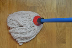 Mop in red Royalty Free Stock Images