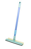 Mop with scraper for cleaning windows Royalty Free Stock Image