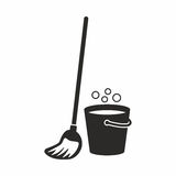 Mop. Vector icon isolated on white background stock illustration