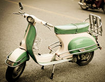 Moped. Retro moped in retro color Royalty Free Stock Photography