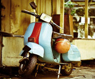Moped. Old vespa moped in china town KL malasia Stock Image