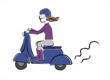 Moped Royaltyfri Foto