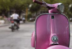 Moped. Cool pink moped in thailand Royalty Free Stock Photo