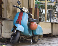 Moped. Old vespa moped in china town KL malasia Royalty Free Stock Photography