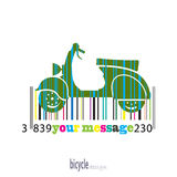 Moped of colored stripes barcode Stock Photos