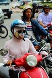 Moped, Cześć Chi Minh miasto, Wietnam Obraz Royalty Free