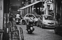 Moped Drivers Royalty Free Stock Image