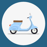 Moped Flat vector illustration Stock Photos