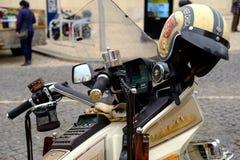 Moped i Faro, Algarve fotografering för bildbyråer