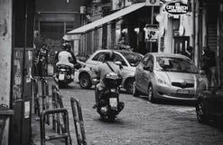 Moped kierowcy Obraz Royalty Free