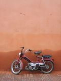 Moped, Marrakech. A moped leaning against a wall, Marrakesh, Morocco Stock Images