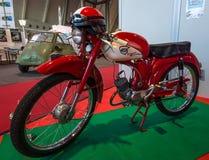 Moped NSU Quickly Cavallino, 1960. STUTTGART, GERMANY - MARCH 02, 2017: Moped NSU Quickly Cavallino, 1960. Europe`s greatest classic car exhibition `RETRO Stock Photos