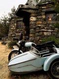 Moped och bakgrund hem- Hagrid för Hagrid ` s Royaltyfri Foto