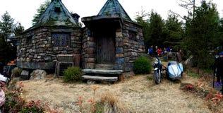 Moped och bakgrund hem- Hagrid för Hagrid ` s Royaltyfri Fotografi