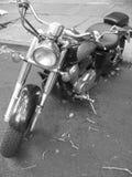 Moped preto e branco Imagens de Stock Royalty Free