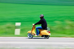 Moped on Rural Road Stock Images