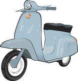 Moped Scooter. Vector illustration  of moped scooter Stock Images
