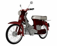 Moped, scooter - 3D render Royalty Free Stock Images