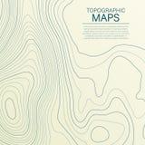 Mopographickaart De gestileerde hoogte van de topografische contour in lijnen en contouren Vector voorraadillustratie vector illustratie
