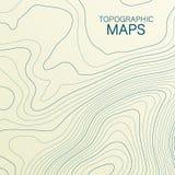 Mopographickaart De gestileerde hoogte van de topografische contour in lijnen en contouren Vector voorraadillustratie royalty-vrije illustratie